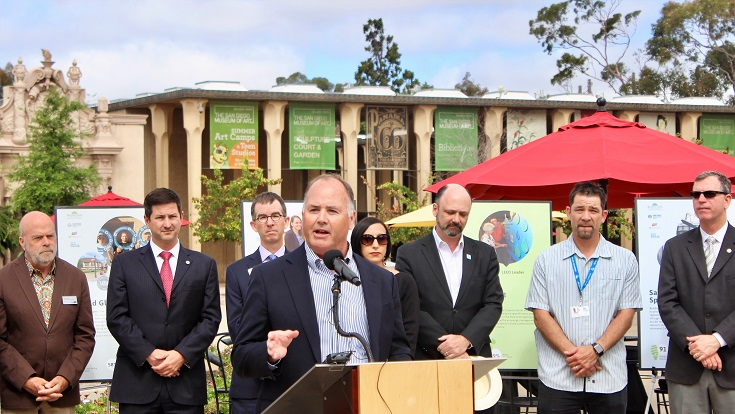 Today, SDG&E's Vice President of Operations Support and Chief Environmental Officer, Mike Schneider, joined the Balboa Park Cultural Partnership, San Diego Green Building Council and the City of San Diego to recognize Balboa Park's green building achievements