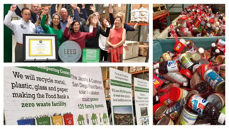 Through our support of the San Diego Green Building Council's Green Assistance Program, the San Diego Food Bank is the first and only facility in the county to achieve the new and more stringent LEED v4 Gold Status and is on its way to being the greenest food bank in the nation.
