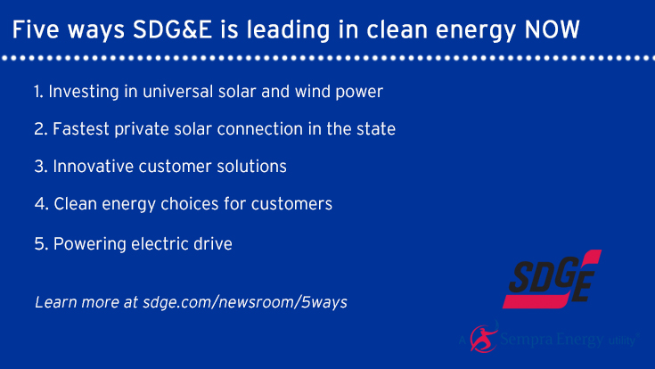 SDG&E has developed tools, innovative technologies and resources to help our customers integrate renewable energy into their lives.
