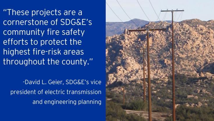 SDG&E's project in the Cleveland National Forest will reduce fire risk and improve system safety and reliability in an approximately 880-square mile area in the forest and rural eastern San Diego County.
