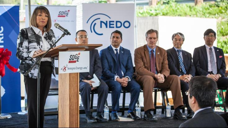 Today, SDG&E is unveiling a new vanadium redox flow (VRF) battery storage pilot project in coordination with Sumitomo Electric (SEI), which stemmed from a partnership between Japan's New Energy and Industrial Development Organization (NEDO) and the California Governor's Office of Business and Economic Development (GO-Biz).